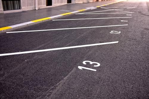clean parking lot